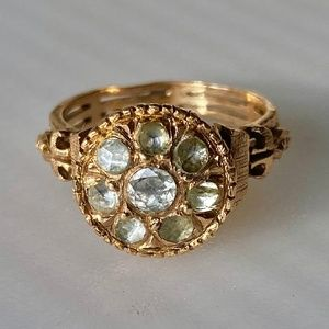 Antique Edwardian 18k Rose Cut Diamond Ring